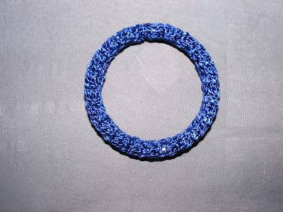 bratara handmade crosetata albastra vacanta 2013