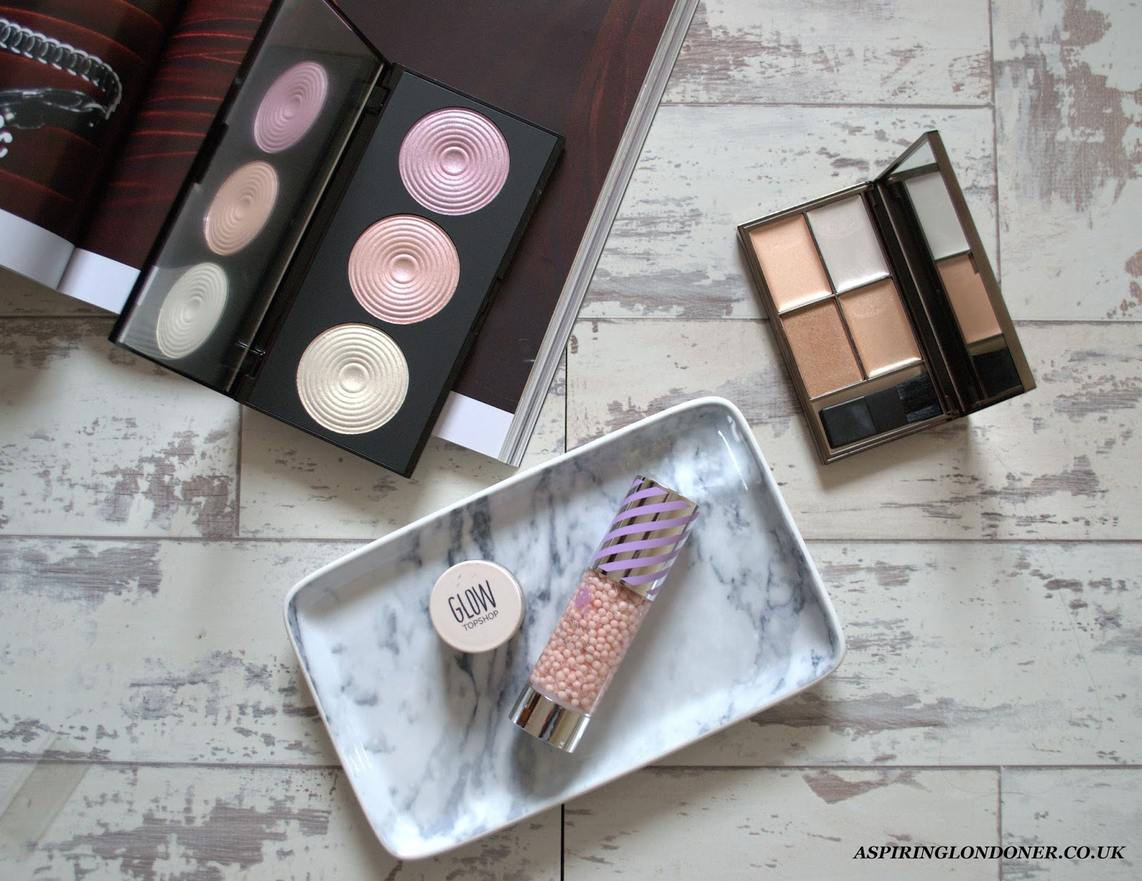 Budget Strobing ft Sleek, Makeup Revolution, Topshop, B Beauty - Aspiring Londoner