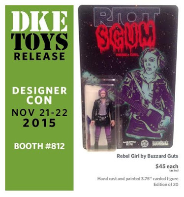 "Designer Con 2015 Exclusive ""Rebel Girl"" Princess Leia Star Wars Bootleg Resin Figure by Buzzard Guts"