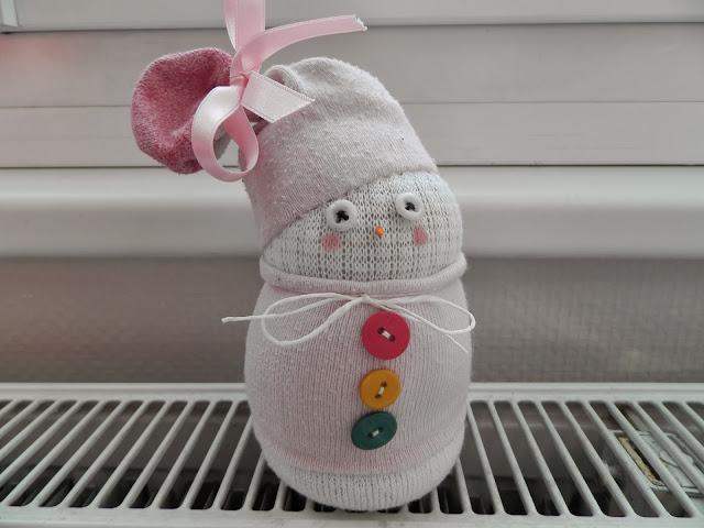 Coton et Création : bonhomme de neige en tissu