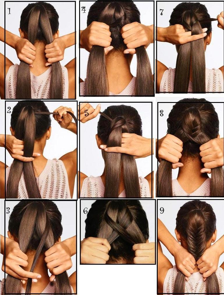 Peinado muy sencillo con trenza de dos cabos queda bien para el colegio, para el diario y se ve hermoso.