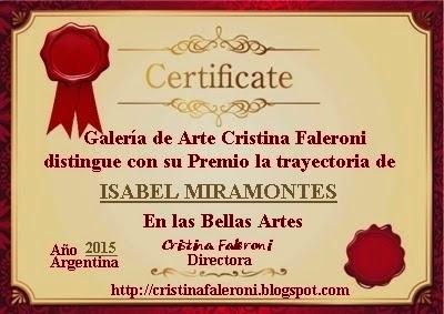 Isabel Miramontes - Premio