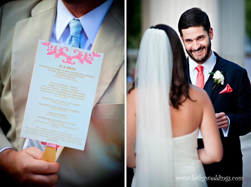 Hand fan wedding DAR constituion Hall