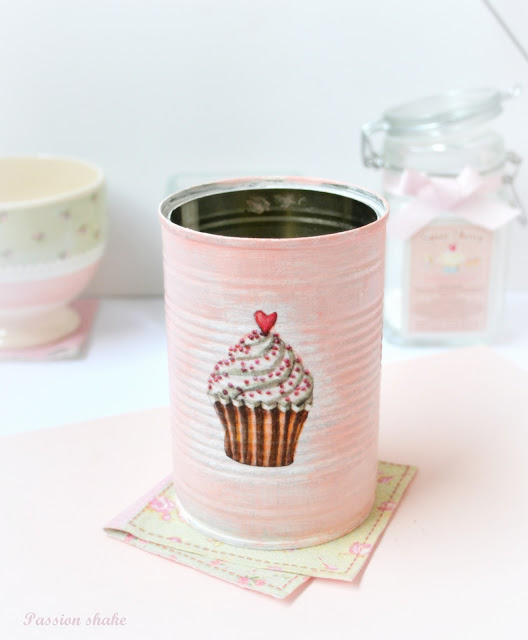 Pink tin cans