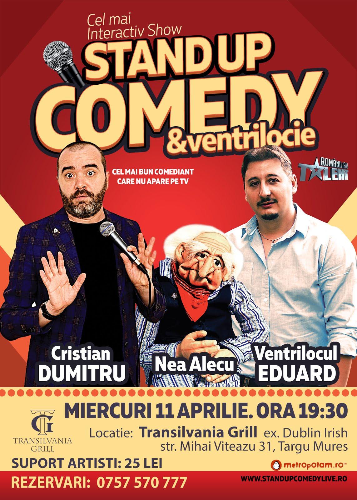 Stand-Up Comedy Targu Mures Miercuri 11 Aprilie 2018