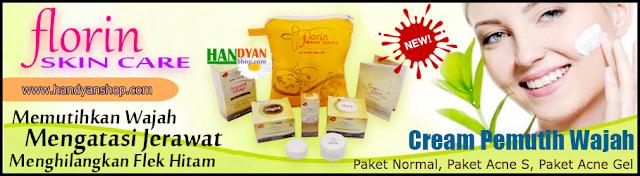 Cream Pemutih Wajah Dan Penghilang Jerawat Florin Skin Care