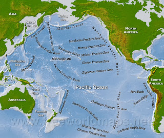 pacific ocean underwater map  The Pacific Ocean is