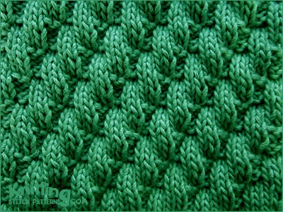 Knit Purl Stitch Patterns : Broken Diagonal Rib Stitch Knitting Stitch Patterns