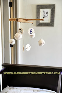baseball mobile, sports nursery, baseball nursery, ideas, designs
