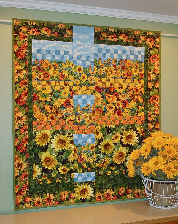 colchas sunflower quilts pinterest quilt y paneles pin sunflowers