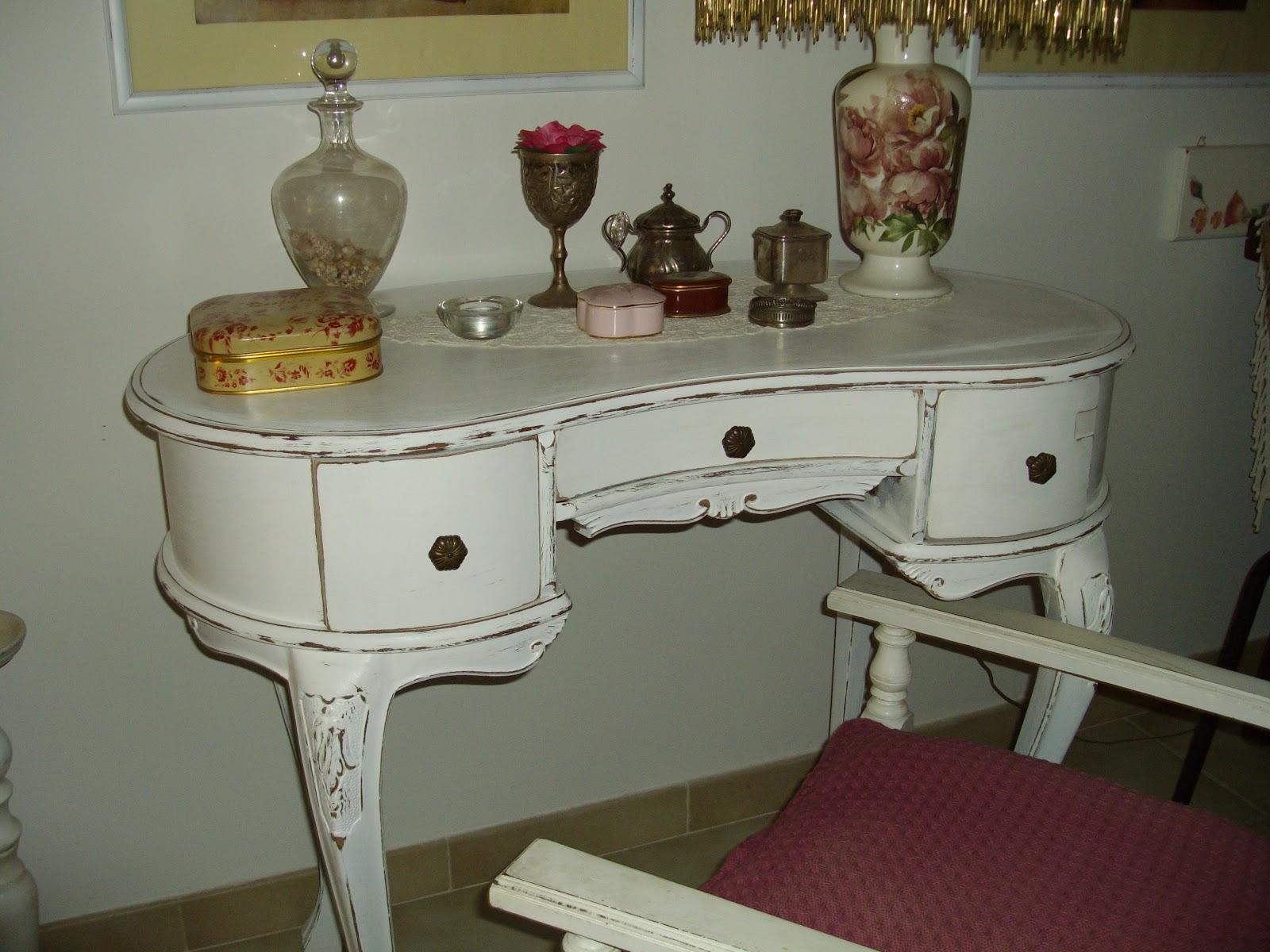 Re chic le dressing table shabby chic toletta da camera o scrittoio - Toletta da camera ...