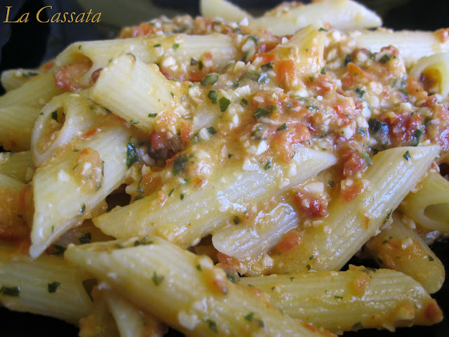 Pennette With Spicy Sicilian Pesto Recipes — Dishmaps