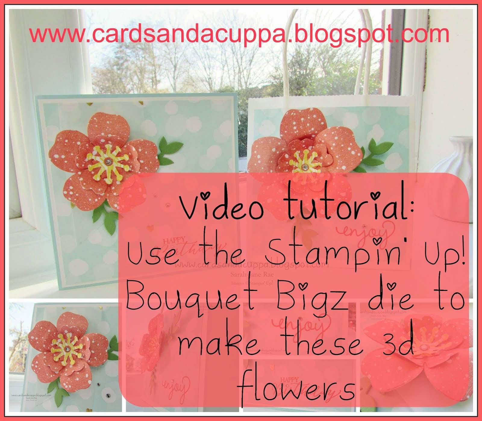 Postable 3d Flower. Easy to add to your cards and gifts!