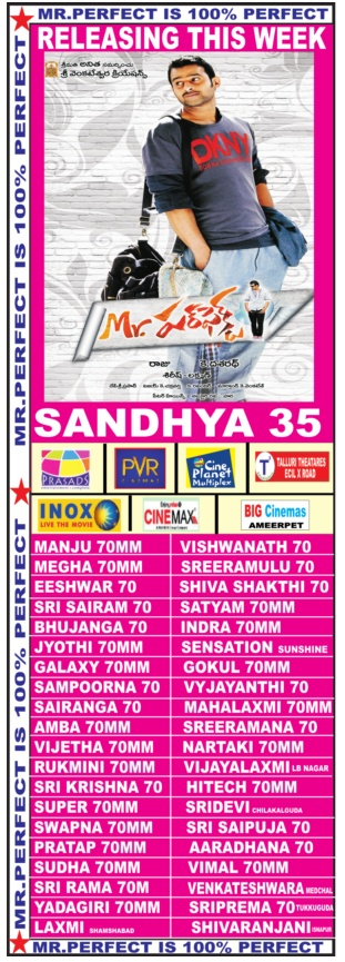 Mr Perfect Hyd theaters list
