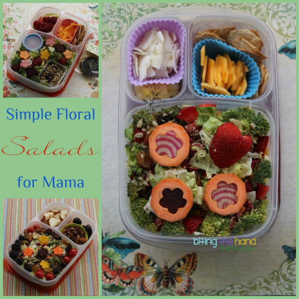 Simple Waste-Free Salads - salvaged fruit and bento scraps