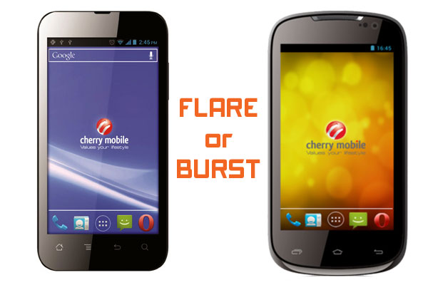 Get Cherry Mobile's Burst or Flare with Sun's Plan 350