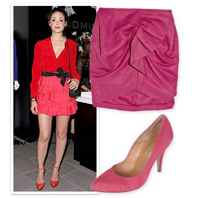 Elizabeth s kloset skirt and shoe combos for mile long legs