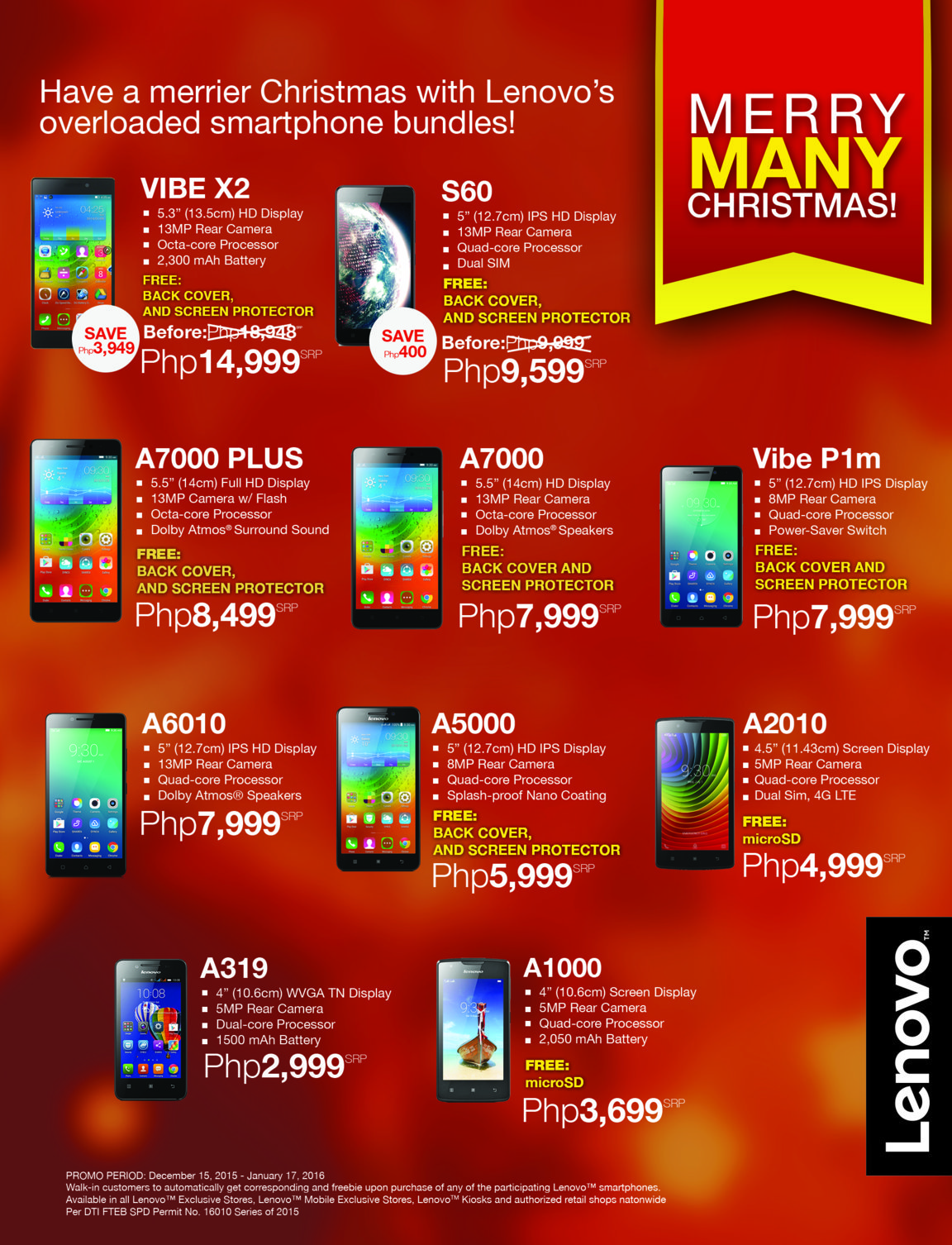 Lenovo's Merry Many Christmas Promo