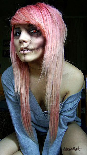 Go Back > Gallery For > Pretty Zombie Girl Makeup