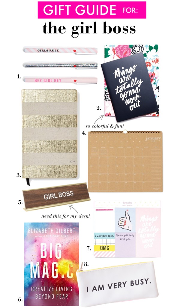 Gift Ideas for the Girl Boss | Colorful office supplies & inspirational reads for girls with big dreams!
