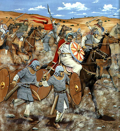 Byzantine troops in Battle of Yarmuk