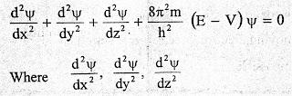 Schrodinger Wave Equation (SWE)