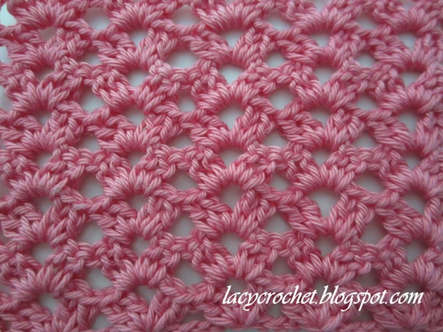 This pretty lacy stitch is very easy, but it looks quite lovely. It ...