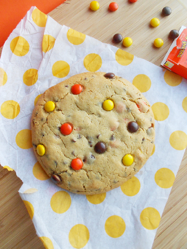 Culinary Couture: Giant Reese's Pieces Peanut Butter Cookie