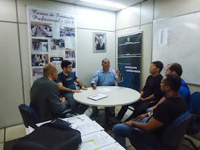 O Sgt. Ricardo da ASSP-PE, reunido com o Ten-Cel. Jeová da GICAPE da SDS  parte 01