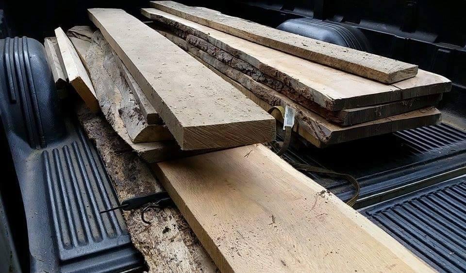 Sean linnane live edge oak walnut bars coffee tables for 100 year old oak table