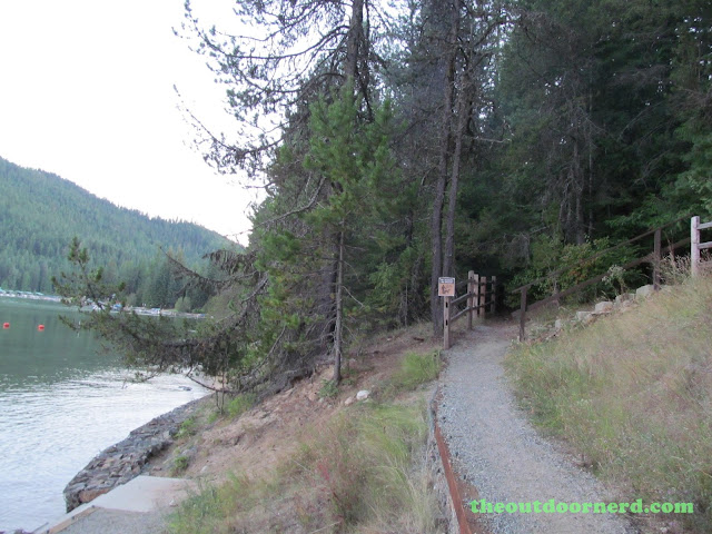 Outlet Campgrounds At Priest Lake, Idaho: Trail To Beach