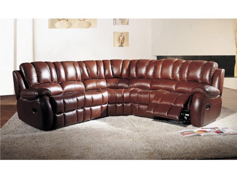 Exceptionnel Canapé d'angle en cuir | Canapé fauteuil et divan YE88