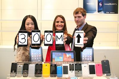 Handphone Samsung Telah Terjual 300 Juta Unit