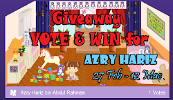 Giveaway Vote & Win For Azry Hariz