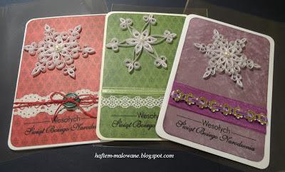chrismas cards quilling snowlafes