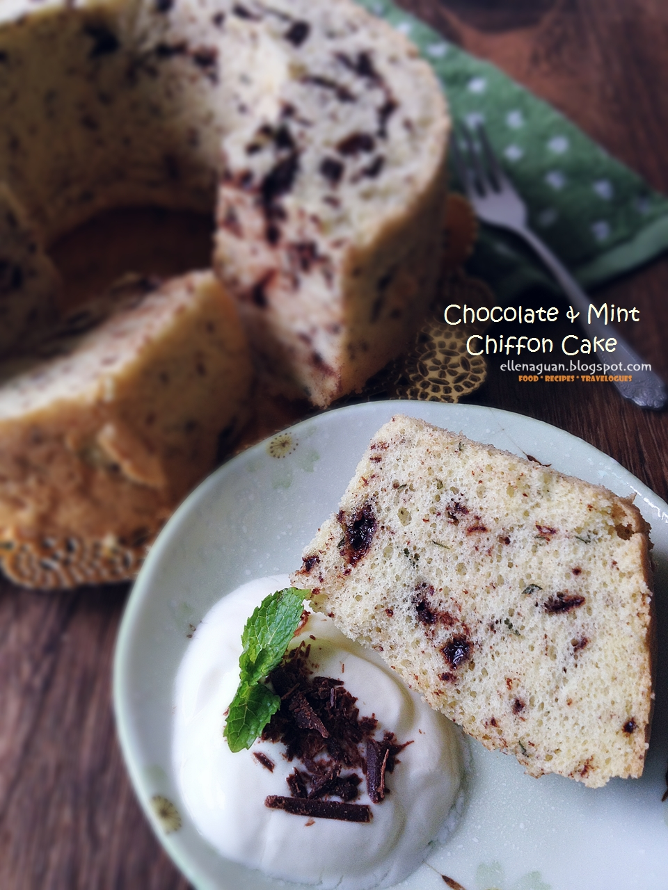 Cuisine paradise singapore food blog recipes reviews and wordless wednesday chocolate and mint chiffon cake recipe forumfinder Gallery