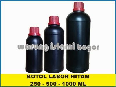 Jual Botol Plastik HDPE Warna Hitam 1 Liter