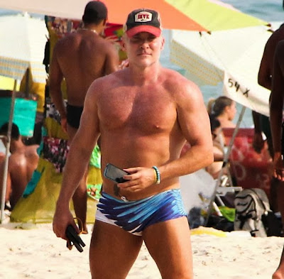 Sam Champion junk in his trunks