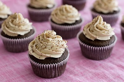 Mexican Hot Chocolate Cupcakes with Cinnamon Buttercream