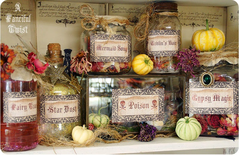 http://afancifultwist.typepad.com/a_fanciful_twist/2011/08/witchs-apothecary-potions-and-spells.html