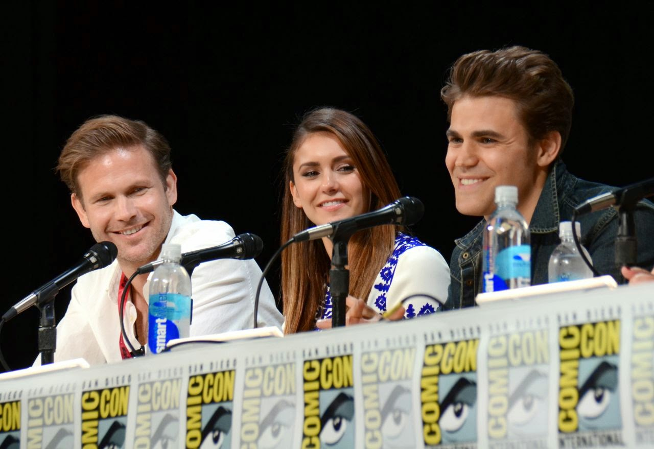 Cast of 'The Vampire Diaries' promote the series at Comic-Con 2014