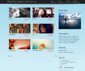 Blue Folio Legacy blogger theme