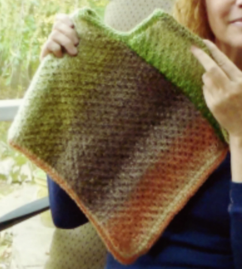 HAND MADE - RUKODELKY: Knit Poncho In Any Size - Free Pattern & Ideas