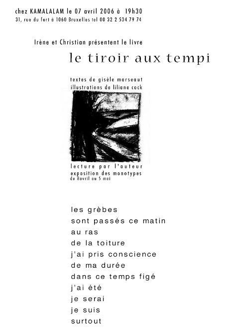 LE TIROIR AUX TEMPI: GISELE MARSEAUT