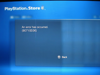 Playstation Network Error 80710d36