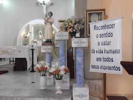 Visita da Relíquia e Imagem de Santa Gianna na Igreja Nossa Senhora da Glória em Outubro de 2012