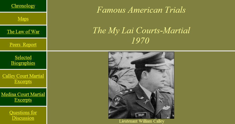 my lai the event the trial essay The my lai massacre and its cover up beyond the reach of the law download the my lai massacre and its cover up beyond the reach of details the events at my lai.
