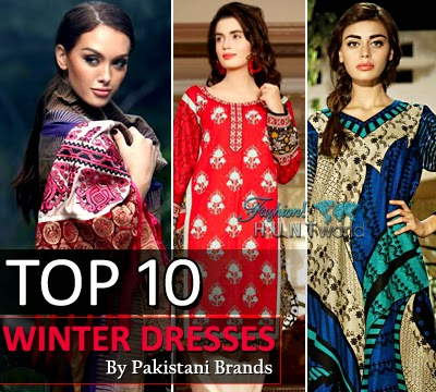 Top 10 Winter Dresses By Pakistani Brands