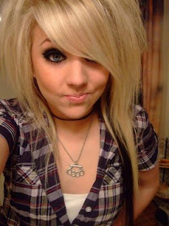 cool blonde emo haircuts