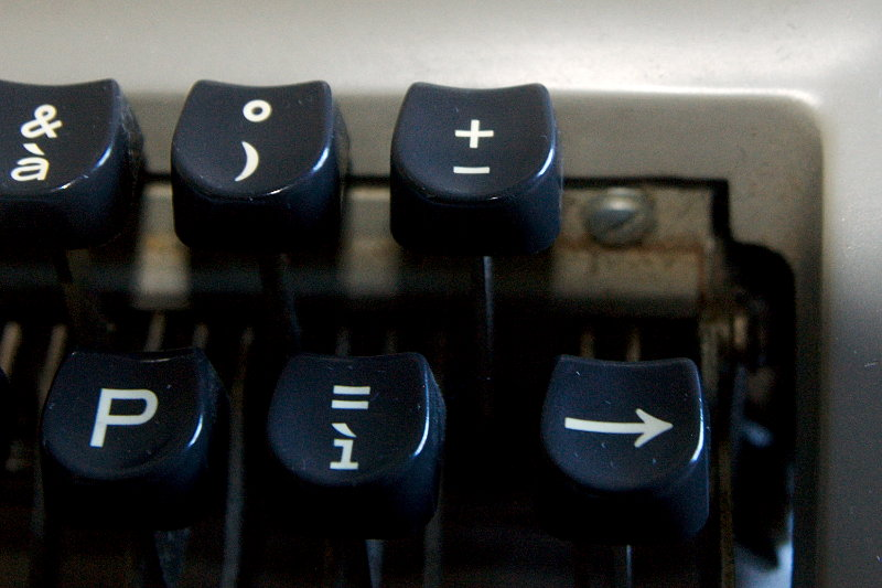 facit tp1 typewriter - missing tab key